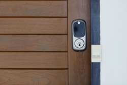 Digital door lock security systems for access protection of hotel, apartment door.
