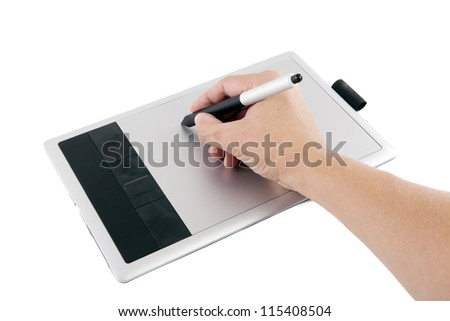 Digital drawing board he writes.
