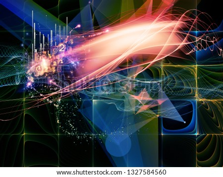 Digital Dreams series. Visually attractive backdrop made of technology background with virtual visualization components  for works on science, education, computers and modern technology