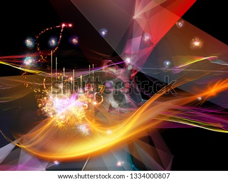 Digital Dreams series. Visually attractive backdrop made of technology background with virtual visualization components  for layouts on science, education, computers and modern technology