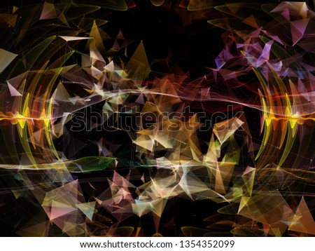 Digital Dreams series. Visually attractive backdrop made of technology background with virtual visualization components  suitable in layouts on science, education, computers and modern technology