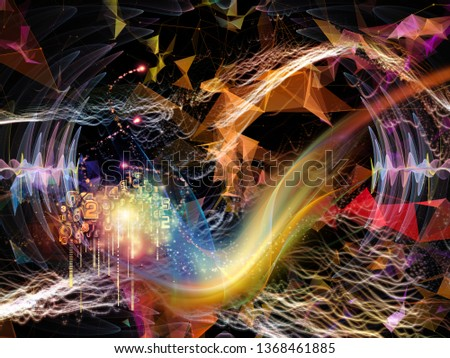 Digital Dreams series. Visually pleasing composition of technology background with virtual visualization components  for works on science, education, computers and modern technology
