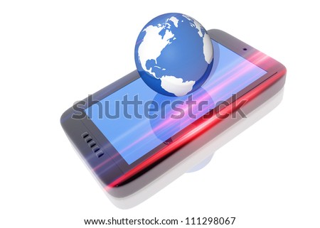 Digital electronic device and earth globe