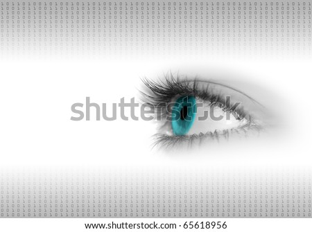 digital eye background