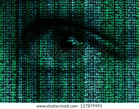 Digital eye reads the encrypted data