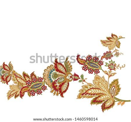 digital flowers leaves pattern texture textile design