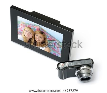 digital frame with camera