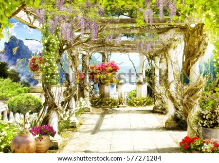 Shutterstock Digital fresco. Greece