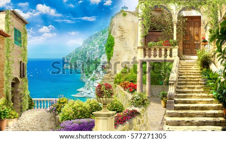 Shutterstock Digital fresco. Italy view