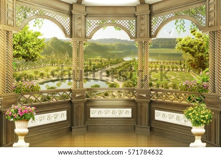 Shutterstock Digital fresco. Park view