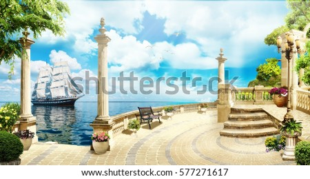 Shutterstock Digital fresco. Sea view