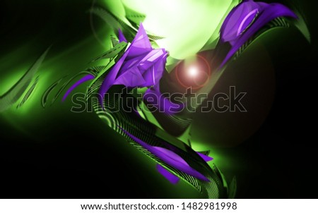 Digital Futuristic abstract space sci-fi illustration against black background