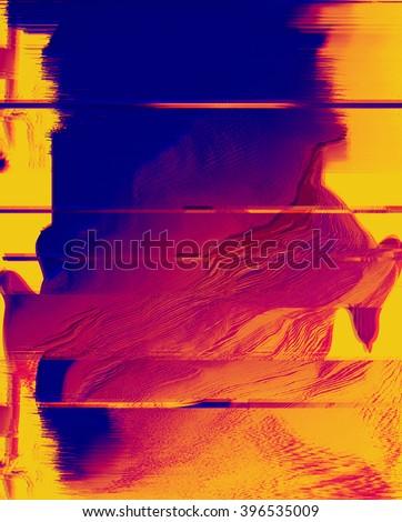 Stock Photo digital glitch background
