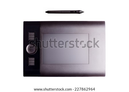 digital  graphic tablet and pen ...