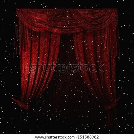 Digital Illustration of a Curtain