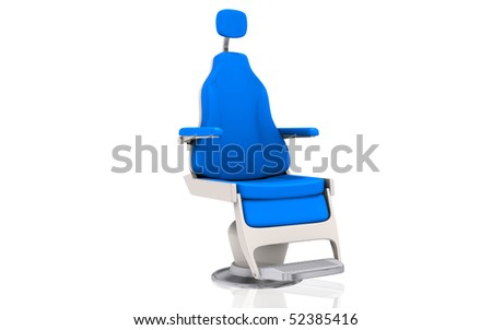 Digital illustration of a dentistâ??s chair in isolated background