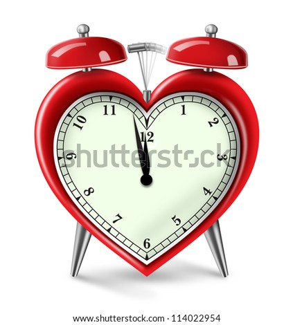 Digital illustration of a Heart Alarm Clock