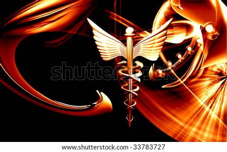 Digital illustration of a medical symbol in black colour