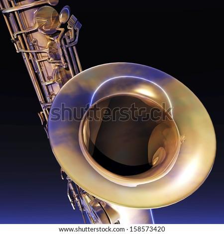 Digital Illustration of a Saxophone
