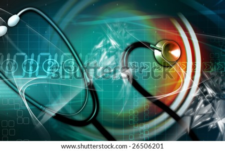 Digital illustration of a  stethoscope