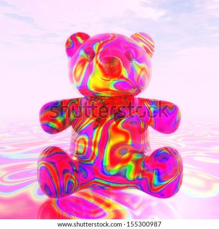 Digital Illustration of a Teddy Bear