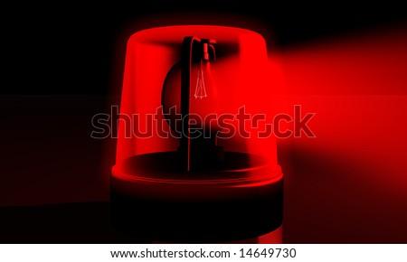 digital illustration of an emergency alarm lamp