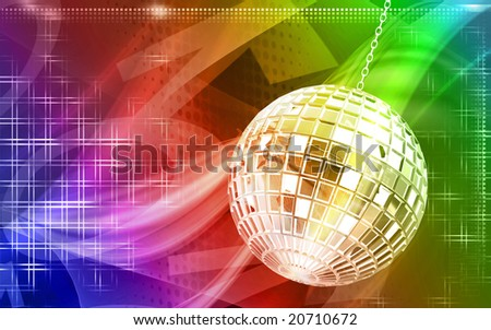Digital illustration of Celebrating ball