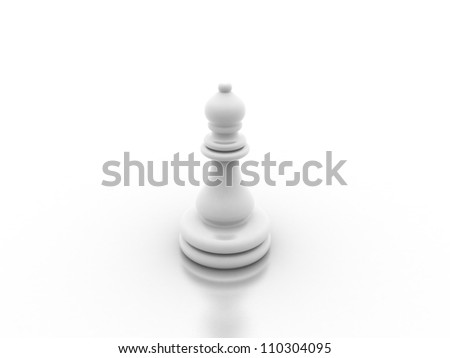 Digital illustration of chess board in 3d on digital background