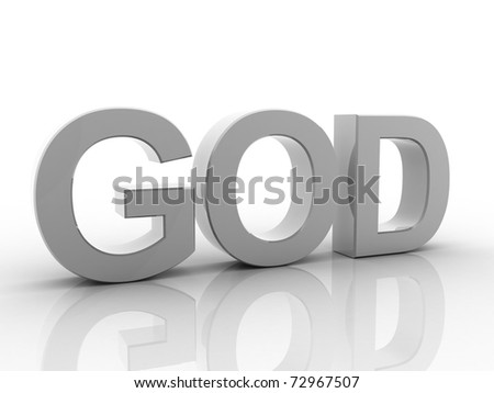 Digital illustration of Christian in 3d on white background