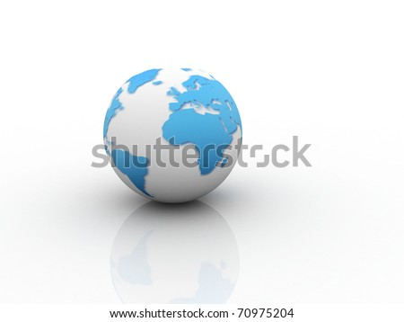 Digital illustration of Earth sign in white Background