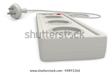 Digital illustration of extension cord  in isolated background	 - stock photo