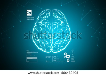 digital illustration of Human brain structure