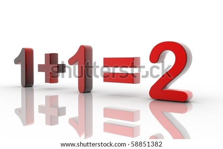 Digital illustration of maths in white background