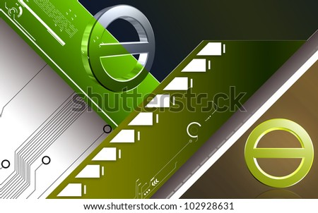 Digital illustration of no entry sign in isolated background