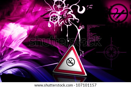 Digital illustration of no smoking in isolated background