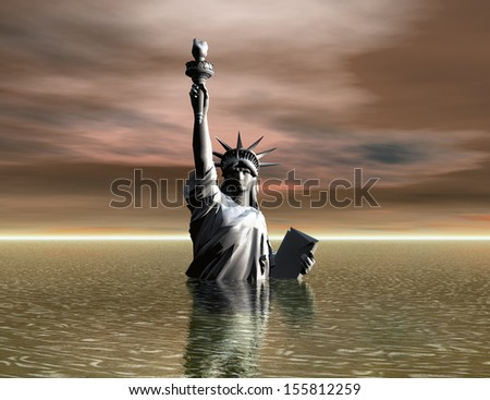 Digital Illustration of the Liberty Statue