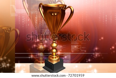 Digital illustration of Trophy in 3d	 - stock photo