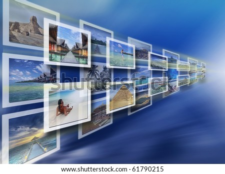 Digital images on the virtual screen - all pictures coming from my gallery