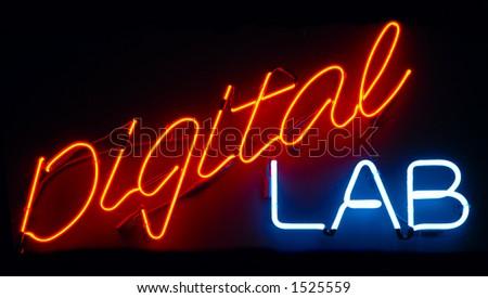 Digital Lab neon sign