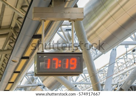 digital led clock with red...