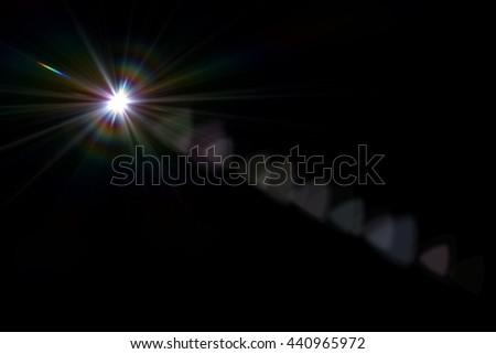 digital lens flare in black bacground horizontal frame - Shutterstock ID 440965972