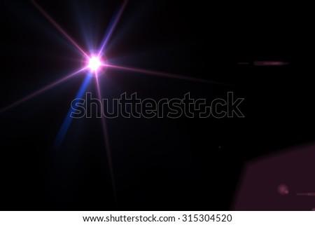 digital lens flare in black background horizontal frame warm - Shutterstock ID 315304520