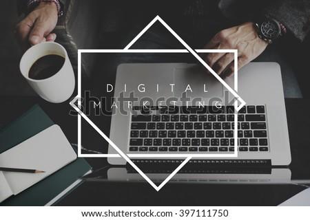 Digital Marketing Media Social Network Concept