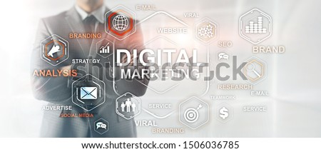 Digital Marketing. Mixed Media Business Background. Business wallpaper.