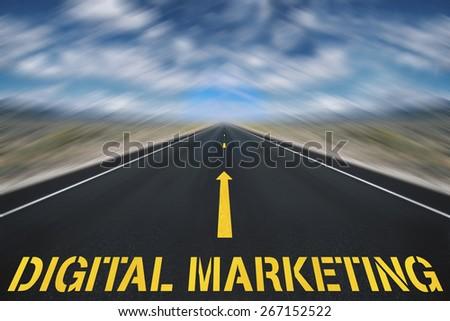 digital marketing road