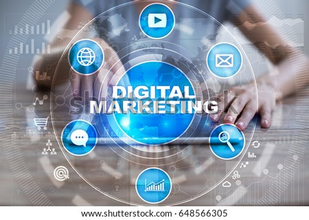 DIgital marketing technology concept.. Internet. Online. Search Engine Optimisation. SEO. SMM. Advertising. #648566305