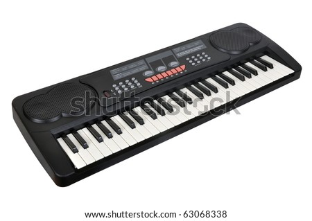 Digital midi keyboard - stock photo