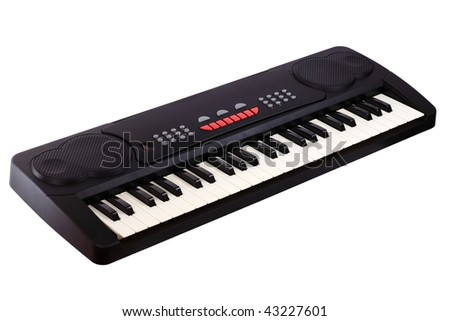 Digital midi keyboard isolated on white.
