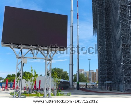 Digital modern scoreboard for displaying information during sporting events #1459122812