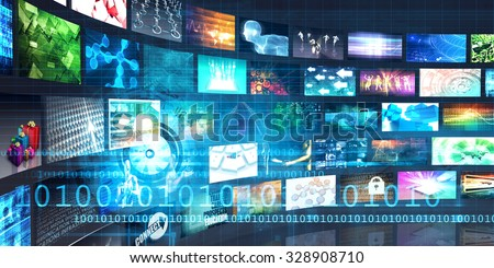 Digital Multimedia Entertainment and Internet Business Concept